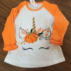 Unicorn Pumpkin Fall Autumn Baseball T Shirt